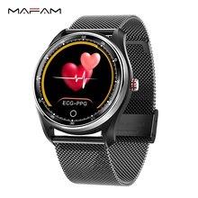 Mafamスマート腕時計男性女性血圧ecg心拍数モニタースマートウォッチfittnessトラッカーIp68スマートバンドアンドロイドios腕時計