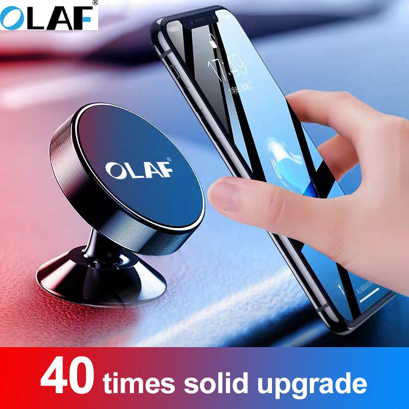OLAF Universal Magnetic Car Phone Holder Stand In Car For IPhone 7 X Samsung Magnet Air Vent Mount Cell Mobile Phone Support GPS