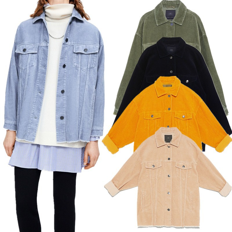 ZAraing Spring And Autumn Women's Corduroy Jacket Multicolor Election