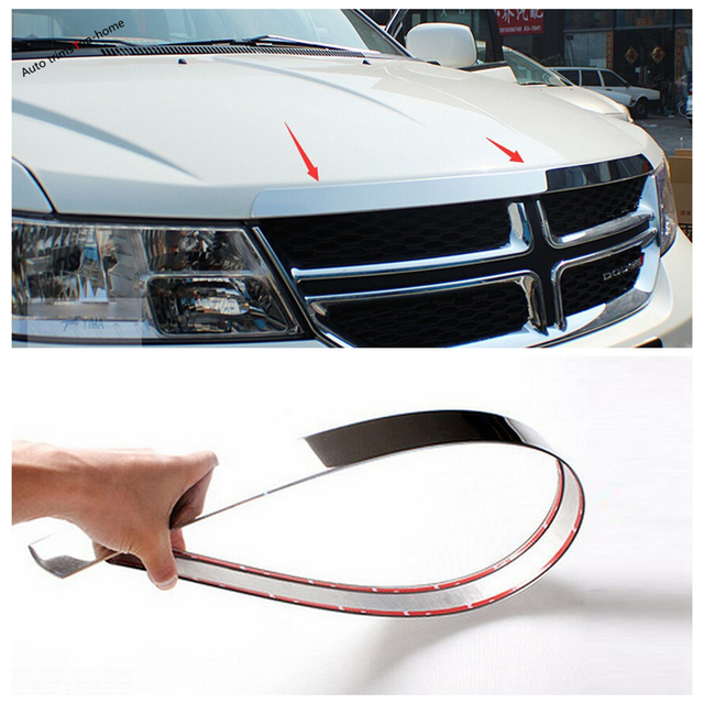 Yimaautotrims Exterior Stainless Steel For Dodge Journey JCUV Fiat Freemont 2012 - 2019 Front Hood Grille Gill Engine Cover Trim 6