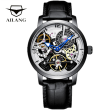 AILANG 2020 Skeleton Tourbillon Mechanical Watch Men Top Brand Luxury Business Casual Automatic Men Male Clock Relogio Masculino 2017 shenhua gold hollow automatic mechanical watches men luxury brand leather strap casual vintage skeleton watch clock relogio