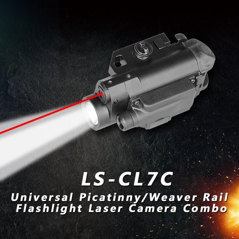 picatinny arma laser com led tatico luz e camera de video auto defesa armas ponto vermelho