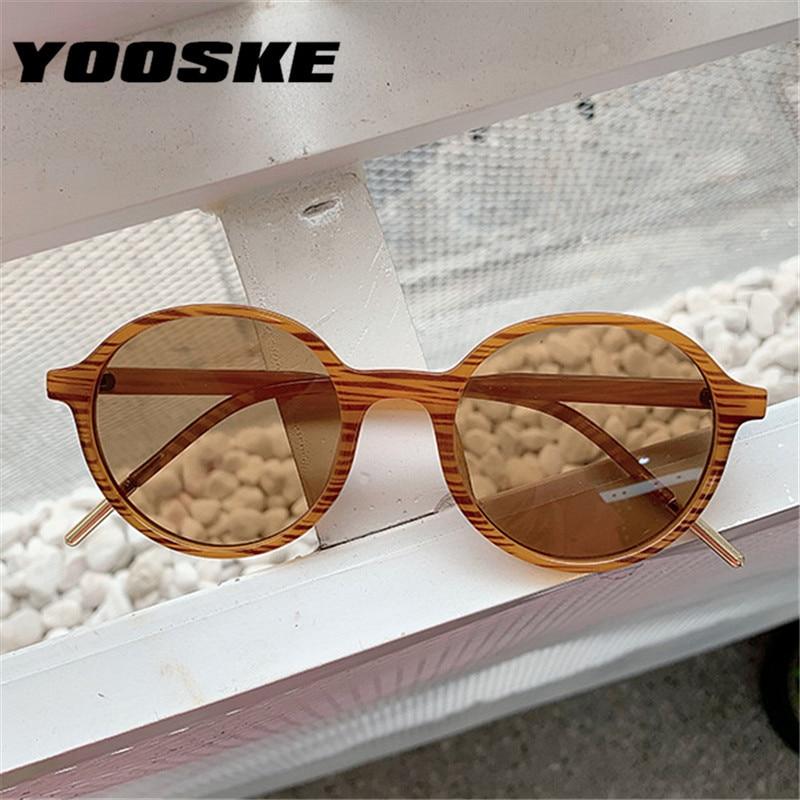 YOOSKE 2020 Small Frame Round Sunglasses Women Men Brand Designer Mirror Sun Glasses Vintage Ladies Eeywear UV400