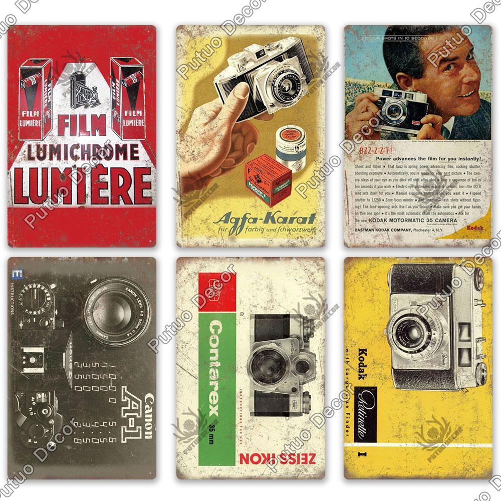 Putuo Decor Camera Retro Metal Posters Vintage Tin Signs For Man Cave Living Room Wall Decor Super Deal Cf35 Cicig