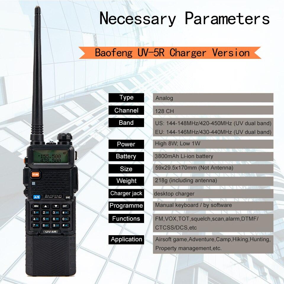 Hot Baofeng UV-5R 8Watts Walkie Talkie 10 km Baofeng uv5r 8W walkie-talkie High Power 8W Ham Radio uv 5r UV-9R Plus UV-8HX UV-XR