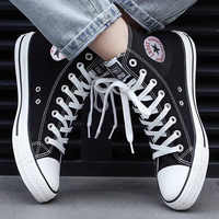 Men Canvas Sneakers Lovers Comfortable Shoes Flats Casual Women Red White Black Blue Breathable Walking shoes Plus Large Size 44