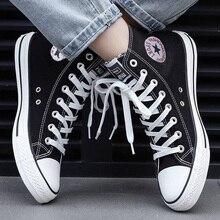 Zapatillas deportivas de lona para hombre y mujer, zapatos informales cómodos, transpirables, para caminar, en rojo, blanco, negro y azul, talla grande 44