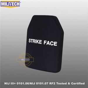 Image 2 - MILITECH SIC&PE NIJ III+ 0101.06/NIJ 0101.07 RF2 10x12 Bulletproof Plate NIJ Level 3+ Stand Alone Ballistic Panel AK47&SS109&M80