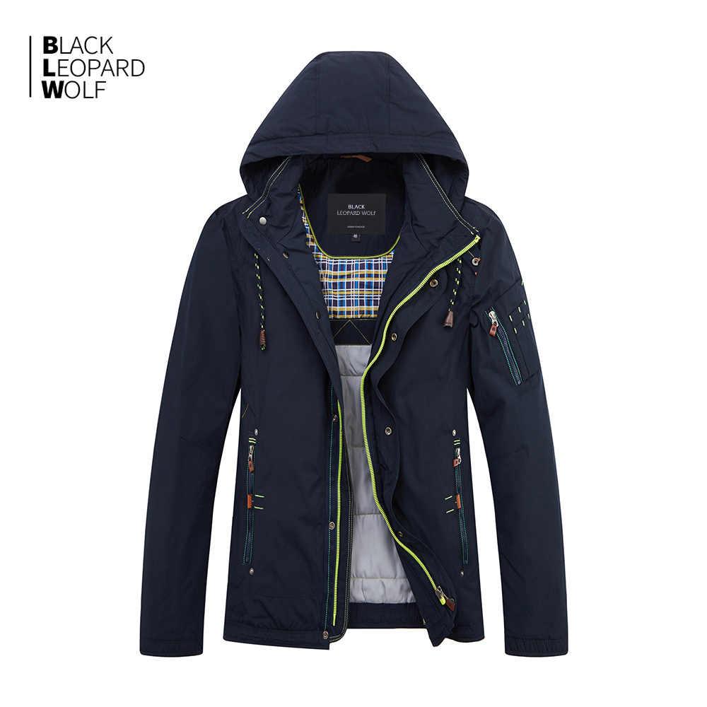 Blacklambwolf 2019 new arrival kurtka zimowa mężczyźni cienka bawełna wysokiej jakości z kapturem płaszcz zimowy mężczyźni z zamkiem błyskawicznym MC-17076