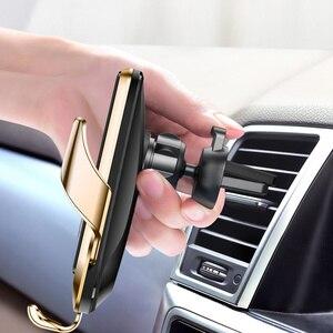 Image 3 - 10W רכב אלחוטי מטען לרכב מחזיק טלפון חכם חיישן מהיר טעינה אלחוטי מטען לרכב טלפון מחזיק אוטומטי הידוק