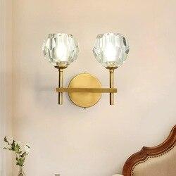 Nowoczesna kryształowa lampa ścienna luksusowe Wandlamp dla życia pokój/korytarz korytarz hotelu lampki nocne LED kinkiety lampy przytwierdzone do ściany oprawy oświetleniowe