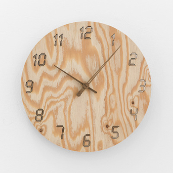 Wooden Wall Clock Simple Modern Design Living Room Decoration Nordic Hanging Wood Clocks Wall Watch Home Decor Silent 12 inch