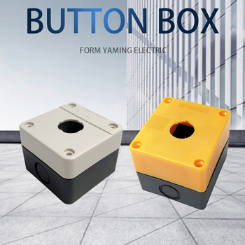 цена на 22mm Push Button Switch Box One Hole Suit For Control Emergency Stop Rotary Interruptor Yellow/Gray Protection BX1-22