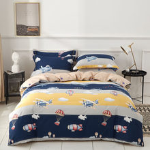 100% Cotton Boys and Girls Blue Dark Queen Double Bed Nightlight Bed Cover Bed Material Pillow Cover Bed Sheet 4pcs(China)
