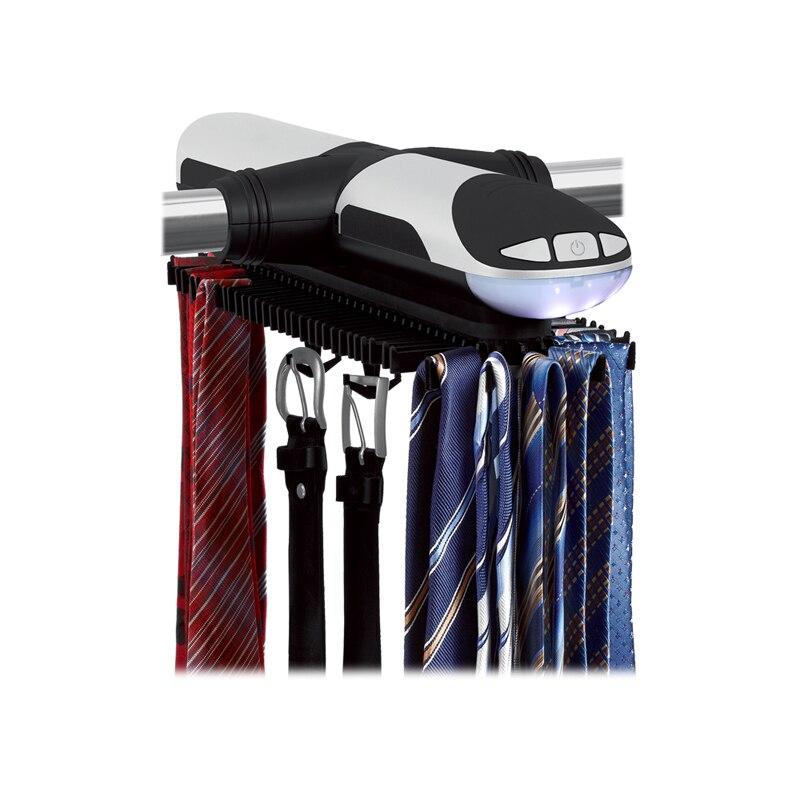 Porte-cravate automatique porte-cravate électrique pivotant porte-cravate crochet écharpe porte-bagages organisateur porte-ceinture - 6