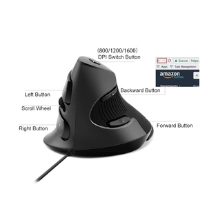 Image 5 - 2.4G Ergonomic Vertical 1600 DPI Wireless Gaming Computer Mouse With USB for PC Laptop