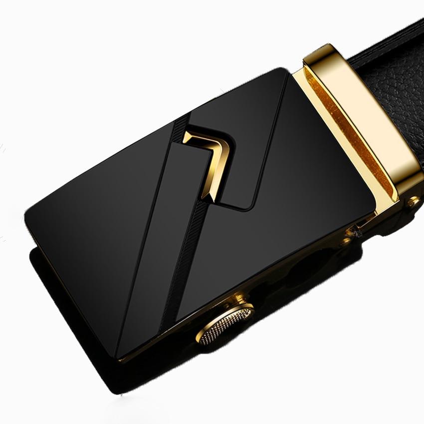 18 typ męski styl biznesowy pasek od projektanta skórzany męski pasek pasek z automatyczną klamrą najwyższej jakości paski do garniturów