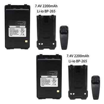 2 Pcs BP-265 2200mAh Li-Ion Replacement BP-265 Li-ion Battery for ICOM IC-F3001 IC-F4001 Walkie Talkie replacement 2200mah 3 7v li ion battery for leagoo lead1 green