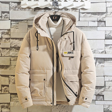 New Fashion Mens Winter Jacket Hooded Plus Size Warm Coat Casual Student Male Overcoat Parka with Big Pocket