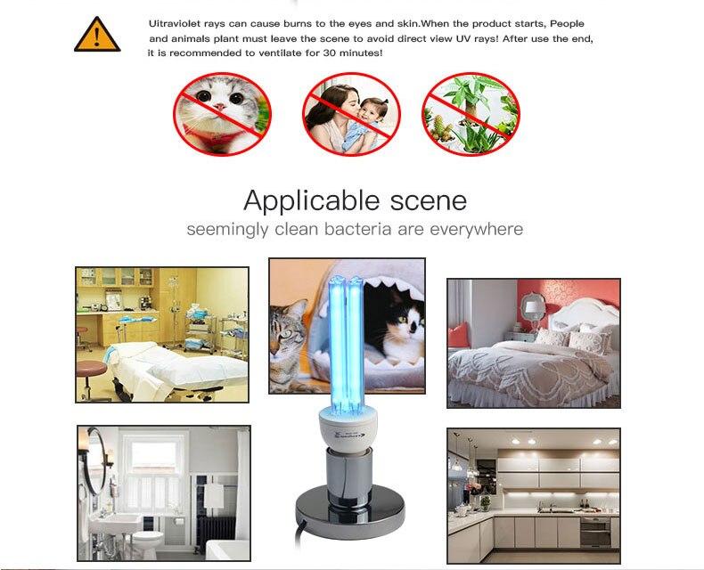 15W 25W UV Lamp Quartz Germicidal Disinfection UVC CFL Ozone LED Light Bulb Ultraviolet Sterilizer