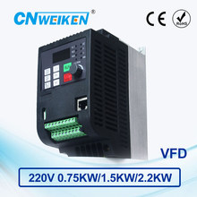 WK600 Vector Control frequency converter 0.75kw/1.5kw/2.2kw Single-phase 220V to Three-phase 220V variable frequency inverter