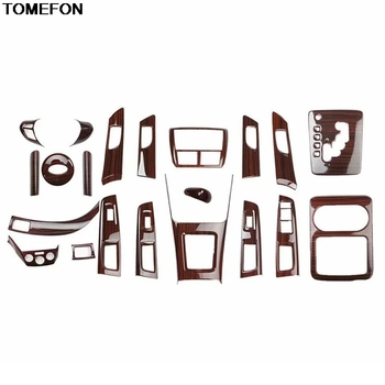 TOMEFON For Subaru Forester 2008 09 10 11 2012 ABS Special Wood Glasses Armrest Doors Handle Gear Cup Center Sonsole Trim Frame image