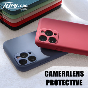 Original Liquid Silicone For iPhone 11 Pro Max Camera Protection Soft Case For iPhone 11 Full Protecte Candy Color Back Cover(China)