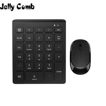 Gelée peigne 2.4G sans fil Mini clavier numérique USB numéro numérique clavier pour ordinateur portable PC portable tapis souris bureau