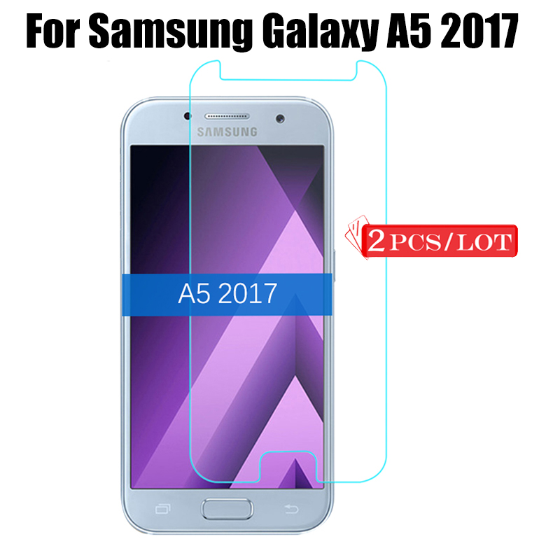 2Pcs for <font><b>Samsung</b></font> Galaxy A5 2017 Tempered <font><b>Glass</b></font> Screen Protector <font><b>Glass</b></font> on SamsungA5 sansung A 5 5A <font><b>A520</b></font> 2017 Film Protective Glas image