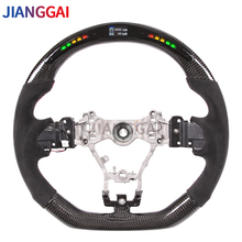 Carbon Fiber LED Steering Wheel Fit For Subaru stt/sti/ wrx 2015 2021Itlay Alcantara