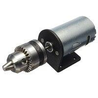 Dc 12-36 в токарный пресс 555 мотор с миниатюрным ручным сверлильным патроном и монтажным кронштейном двигатель постоянного тока