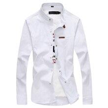 2020 marka koszula męska męskie ubranie koszule moda męska Casual z długim rękawem biznes formalna koszula Camisa społecznej Masculina