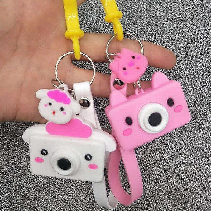 Simulation Camera Keychain Creative Camera Keychains PVC Silicone Cartoon Pendants Children Toys Bag Accessories Birthday Gift