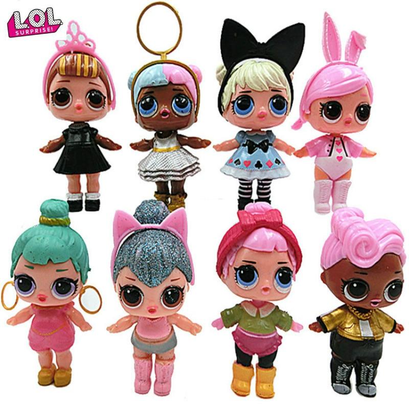 8pcs LOL Surprise Doll Accessories Blind Bag Kids Gift Toy Random