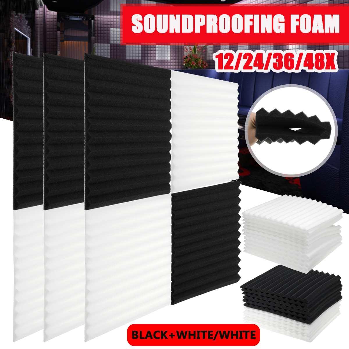 Студийная акустическая пена, звукоизоляционная Защитная губка, звукоизоляционная Звукопоглощающая Панель 12/24/36/48x300x300x20 мм
