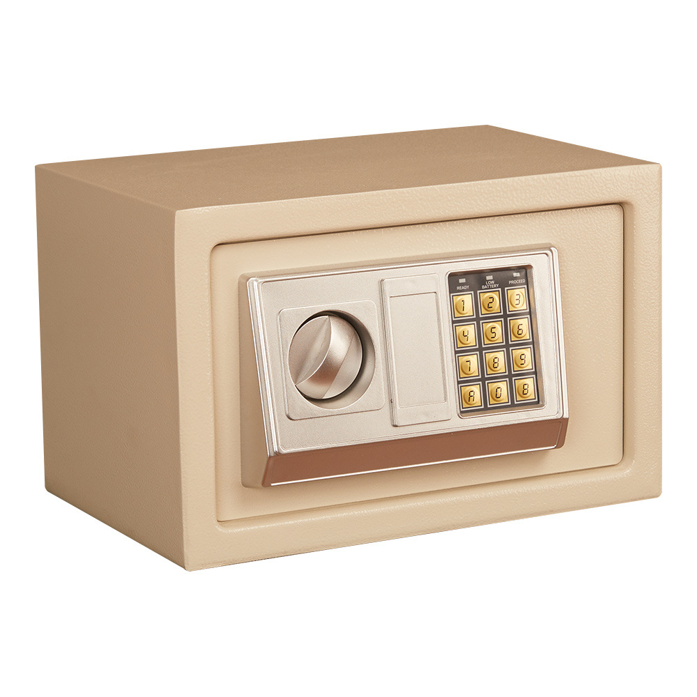 Mini Electronic Password Safe Safe Small Home Office Hotel Electronic Multi-Purpose Password Safe Gold