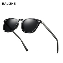 RALIZHE Trending TR90 Polarized Sunglasses Women Square Eyewear Men Bright Black Sun glasses Vintage Unisex Goggle Male UV400