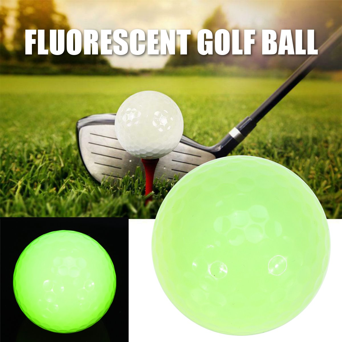 1 Pcs Luminous Golf Ball Bright Ball For Night Use Golf Training Balls Outdoor Indoor Practice Golf Balls Golf Accessories