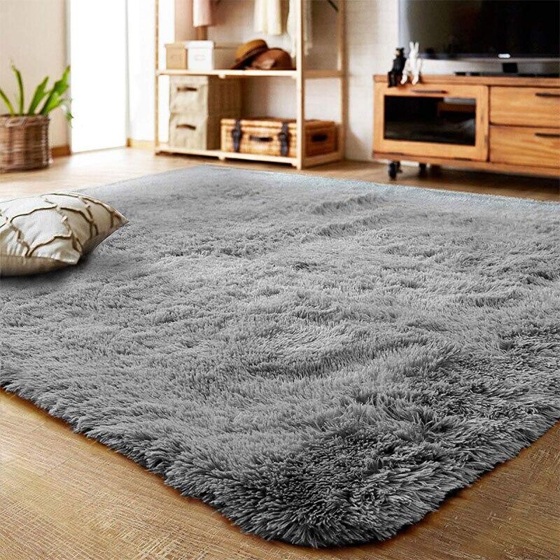 Multi-size Living Room Bedroom Rug Antiskid Soft Carpet Modern Carpet Living Room Plush Stain Resistant Mat