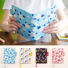 Floral leather notebook DIY diary/daily planner/agenda organizer 207P cute Japan fashion stationery gift
