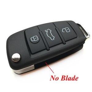 Image 3 - 3 boutons étui à clé à distance pour VW VolksWagen Skoda siège Bora Pasha AUDI A6 remplacement voiture pliable clé porte clés coquille