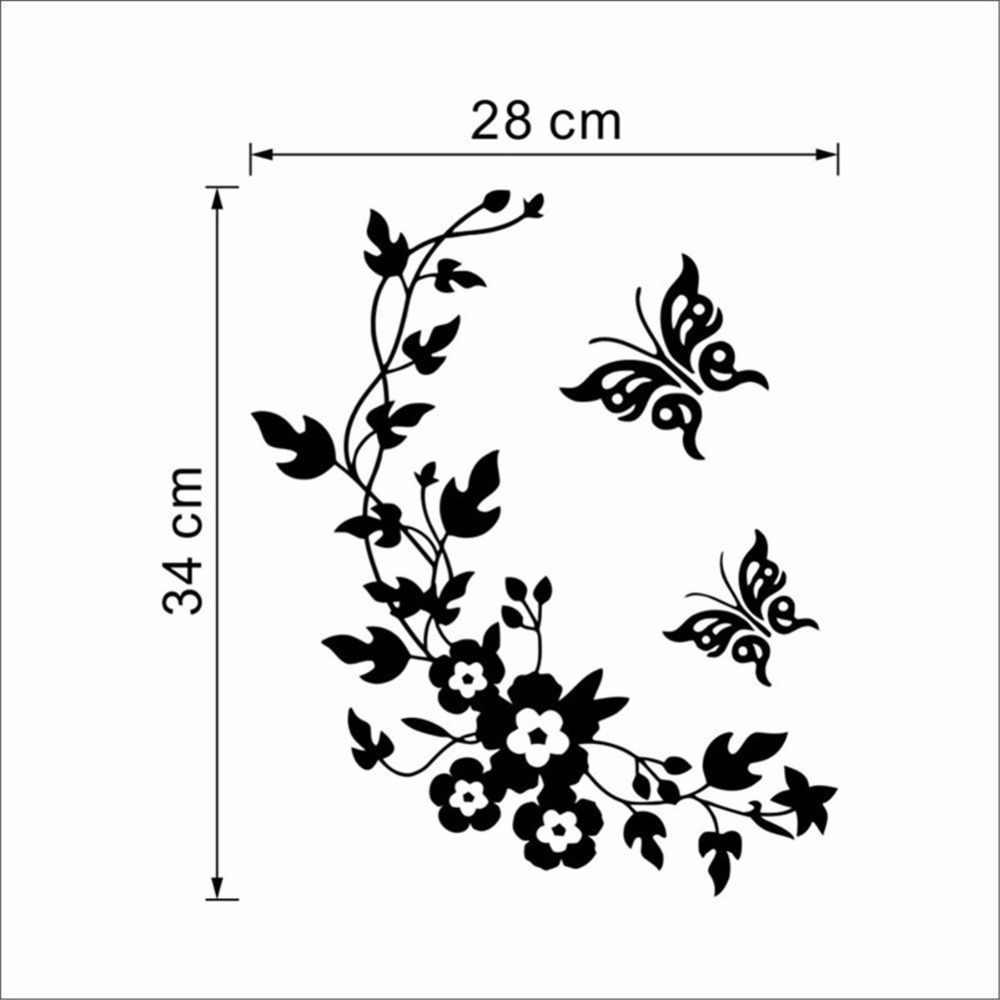Trang trí Bướm Hoa cây nho phòng tắm vinyl dán tường trang trí nhà cửa Sứt Tường cho vệ sinh miếng dán Hộ Gia Đình Trang Trí