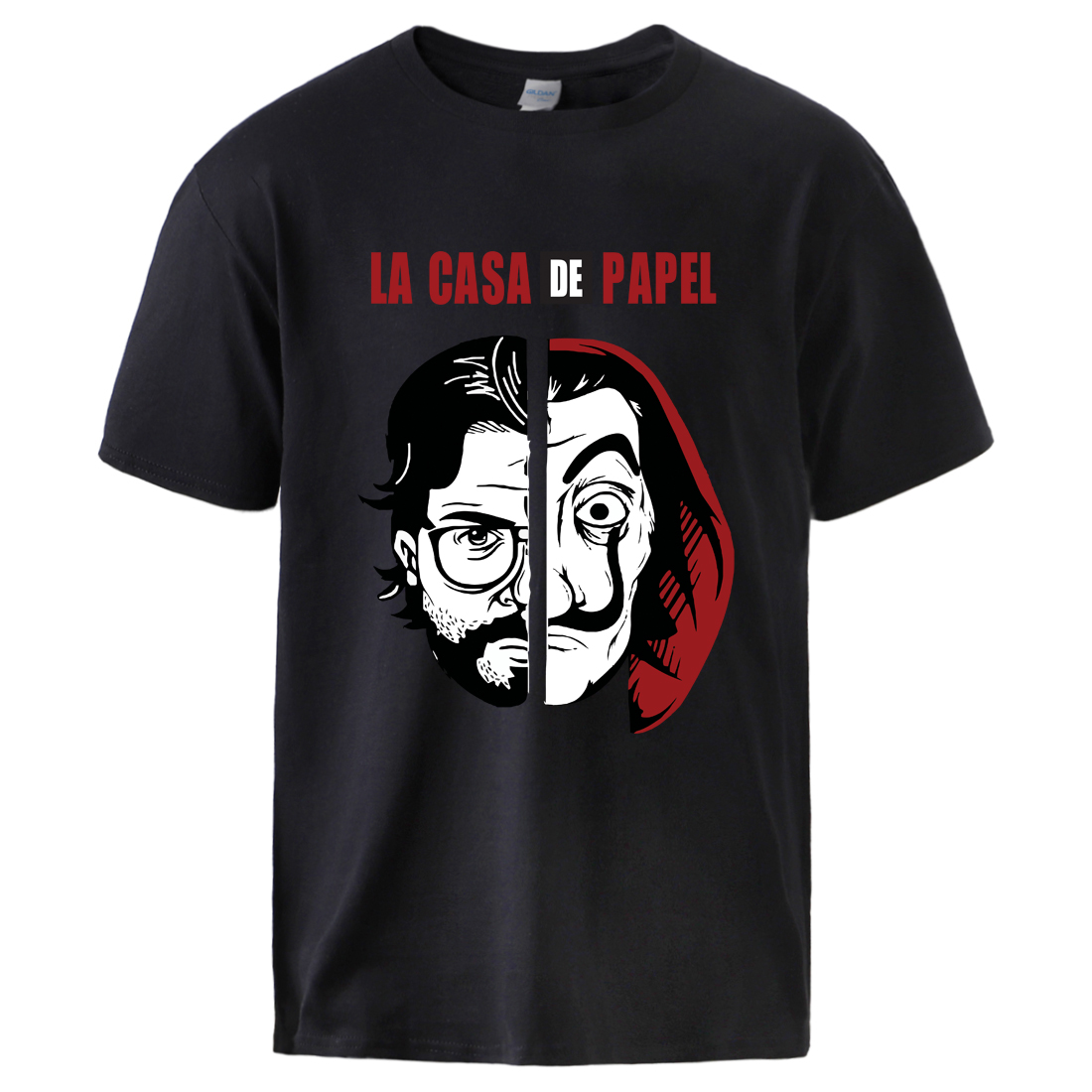 La Casa De Papel Horror Movie Tshirts Man Causal Loose Cotton T Shirt 2020 Summer Short Sleeve Sportswear T Shirts Male Cool Top