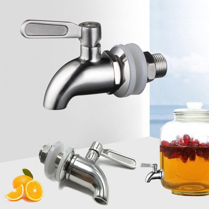 1set 12mm 16mm Drink Dispenser Tap Beverage Wine Barrel Faucet Spigot Water Stainless Steel Coffee Juice Taps Silver Faucet(China)