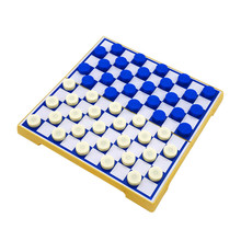 Hot High Quality Portable Folding International Checkers Plastic Magnetic Chess Set Childrens&Kid Entertainment Gift Board Game
