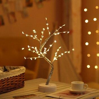 Pentagram,Snowflake,Love,Plum blossom shape tree lights;Colorful,warm light for interior decoration Ambient desk lamp,Bar lamp джемпер plum tree plum tree pl010ewhhgo8