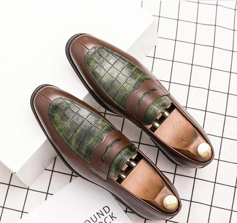 Men Leather Shoes Low Heel Casual Shoes Dress Shoes Brogue Shoes Spring Ankle Boots Vintage Classic Male Casual PS553