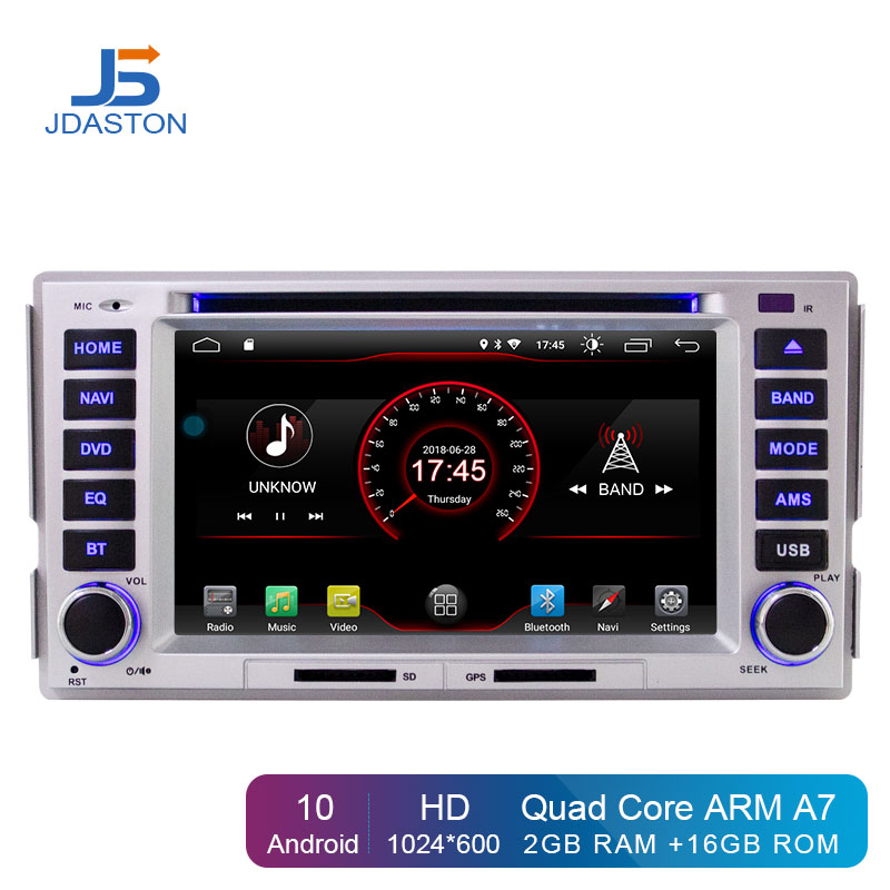 JDASTON Android 10.0 Car DVD Player For <font><b>HYUNDAI</b></font> <font><b>SANTA</b></font> <font><b>FE</b></font> 2006-2012 Multimedia <font><b>GPS</b></font> Navigation 2 Din Car Radio Audio Stereo WIFI image