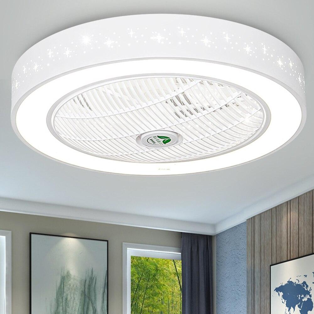 52cm 58cm Star Led Ceiling Fan Lamp Bedroom Lamps Modern Children Room Home Restaurant Decor Lighting 40w Fans Light