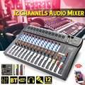 Professionelle 12 Kanal bluetooth Digitale Mikrofon Sound Mixer Konsole Karaoke Audio Mixer Verstärker Mit USB Karaoke Party